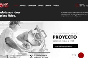 sitio web para ms obra integral de bahia blanca - prisme marketing digital